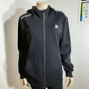 Le coq sportif Women's Black Full Zip Sweatshirt L